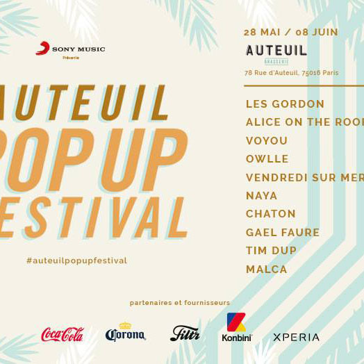 AUTEUIL POP UP FESTIVAL